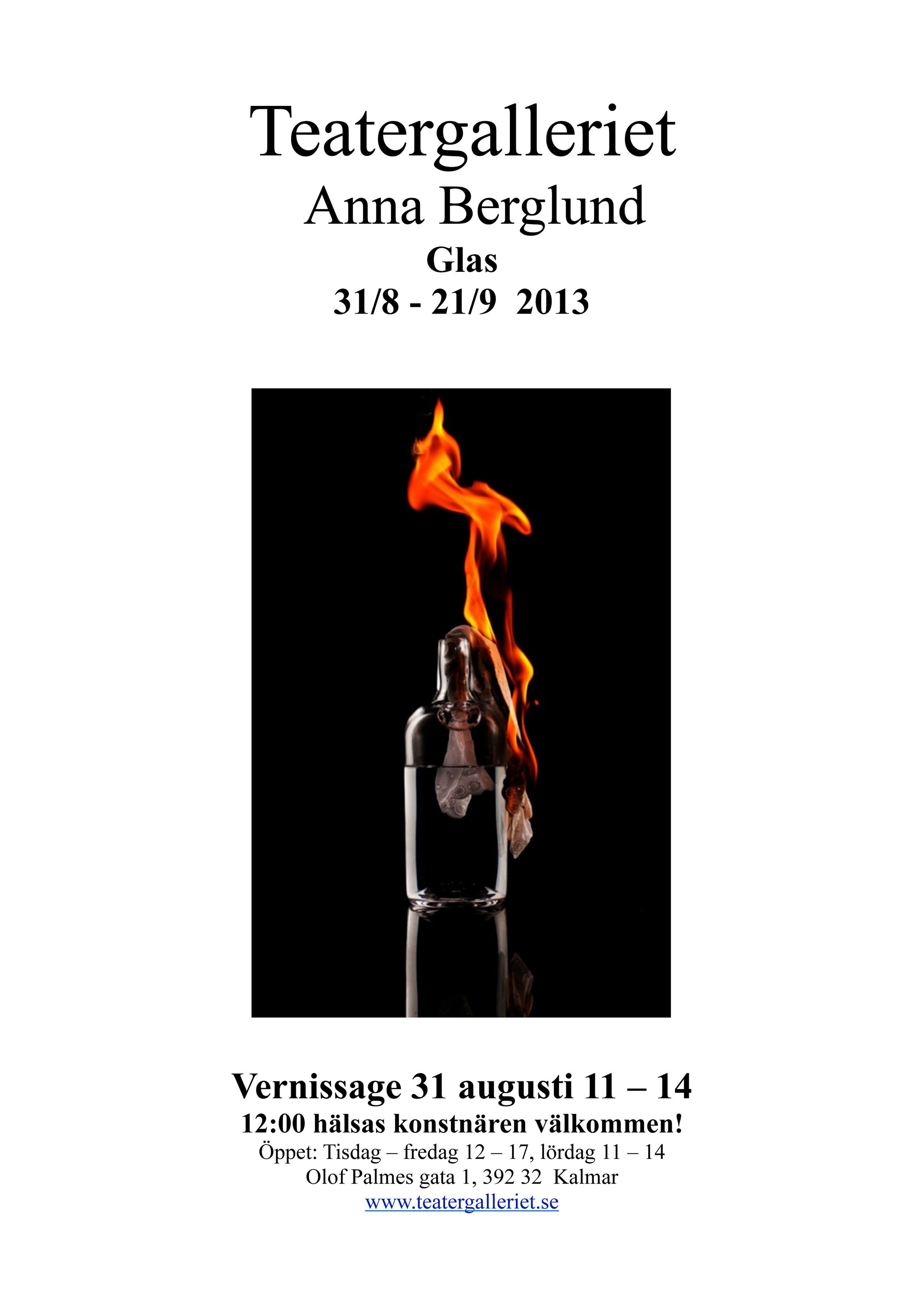 Affisch Anna Berglund